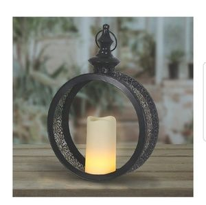 Other - Black Hanging Lantern w/Accent Auto LED Lighting